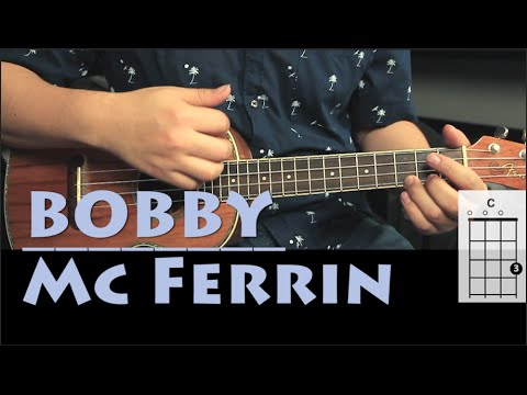 Bobby McFerrin - Don't Worry Be Happy UKULELE Tutorial | Fácil Principiantes (HD)