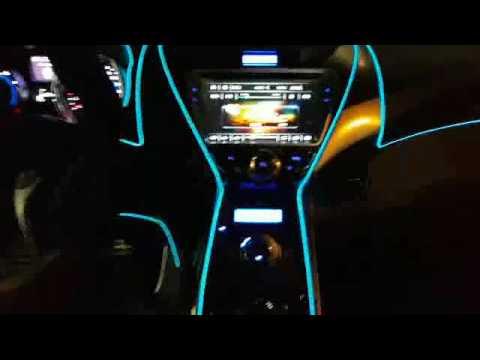 未來科技三重店 汽車室內氣氛設計氣氛燈 - YouTube