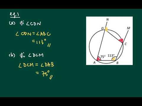 中五數學_上學期_圓的基本性質_圓內接四邊形的外角 - YouTube