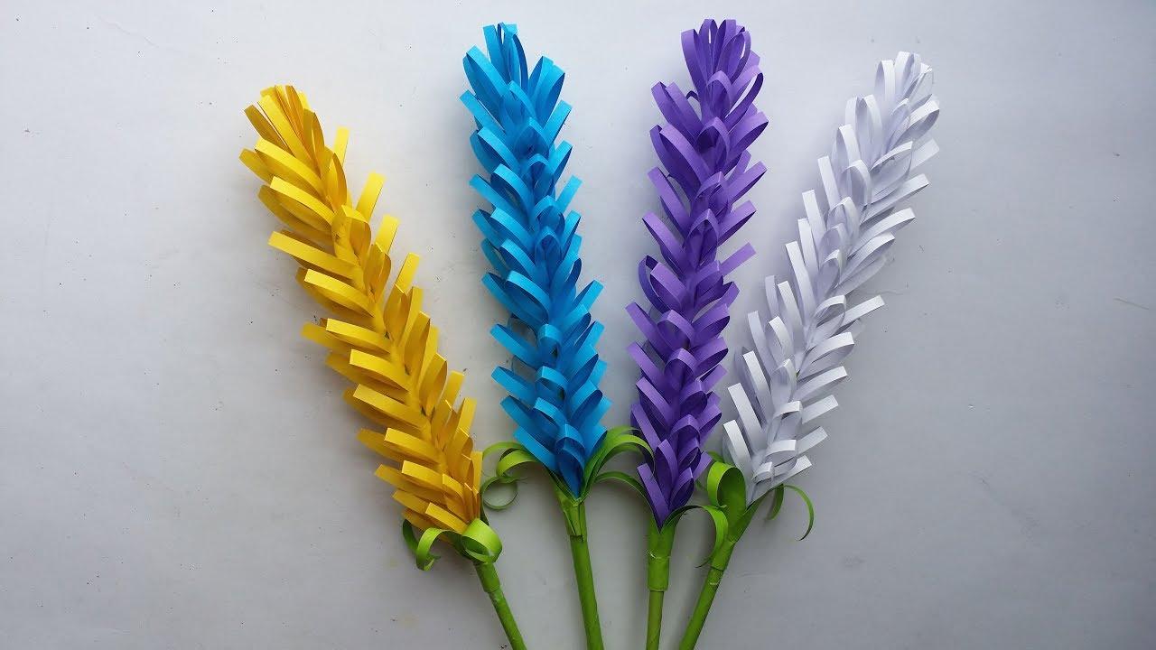 diy  how to make lavender paper flower    easy lavender