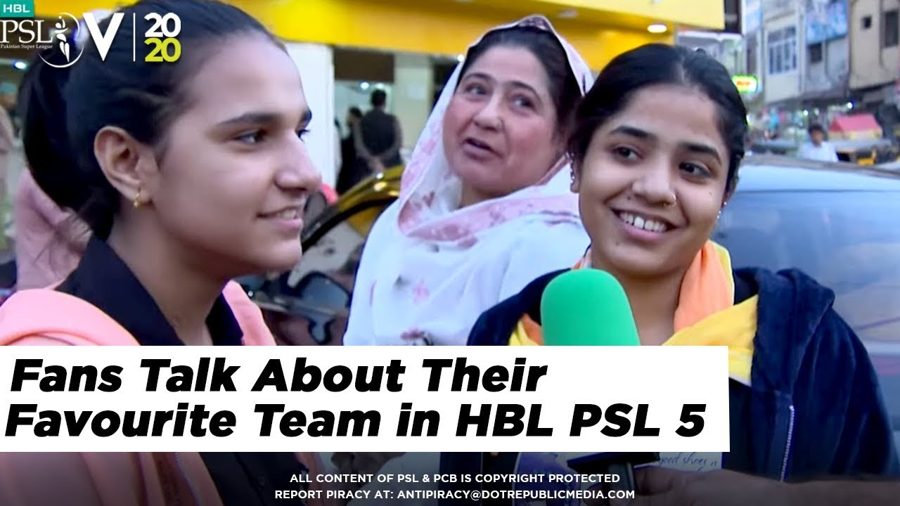Fans Talk About Their Favourite Team in HBL PSL 5 | 2020
