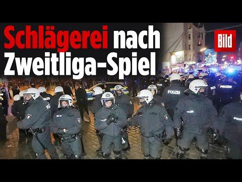 Schlägerei nach Zweitliga-Spiel: Großeinsatz der Polizei in Hamburg