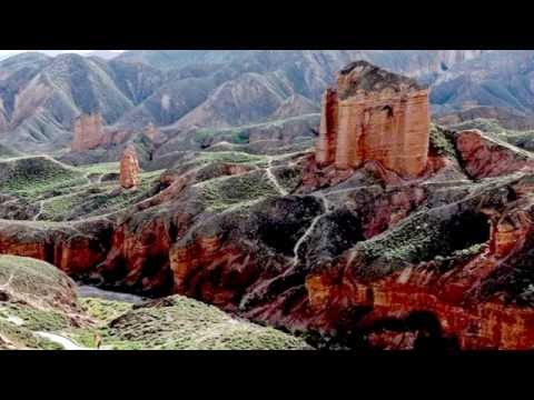 Zhangye Danxia landform view colour - China (HD1080p)