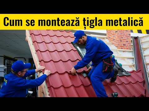 Cum Se Monteaza Tigla Metalica Pe Acoperis || Ghid Montaj MatHaus.ro
