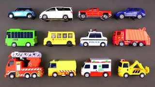 Learning Street Vehicles for Kids #1 with Hot Wheels, Matchbox, Tomica Cars and Trucks Tayo