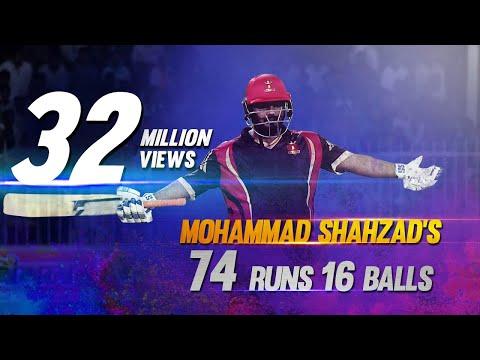 Mohammad Shahzad I 74 from 16 Balls I The fastest 50 in T10 format I T10 League I Season 2