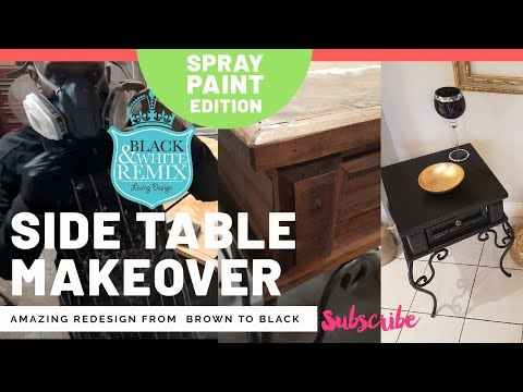 Amazing DIY makeover of a metal wood side table set.