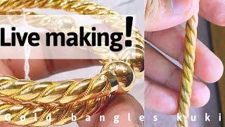 Live Pipe Gold Bangles Making  Maxim Detail 3 Bal Wala Pipe