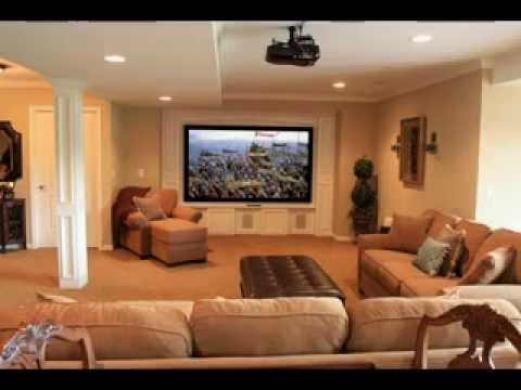 Decorating Family Room diy basement family room decorating ideas - youtube