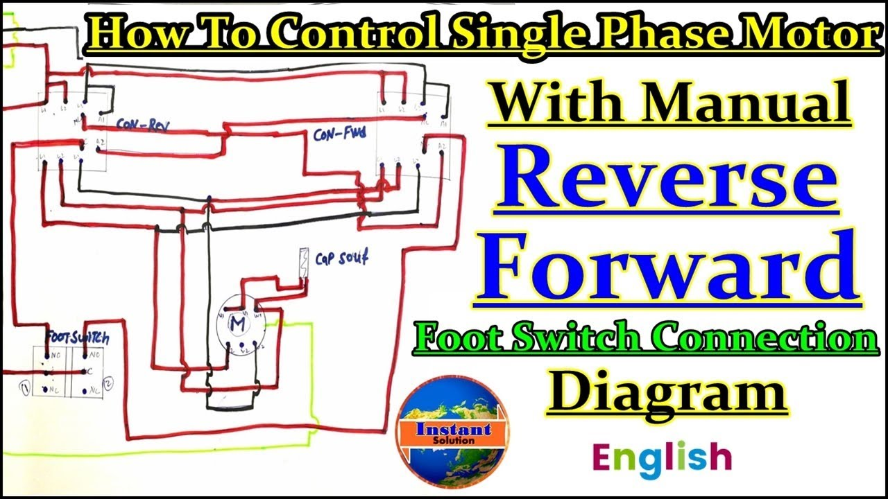 Single Phase Motor Manual Reverse Forward With Foot Switch