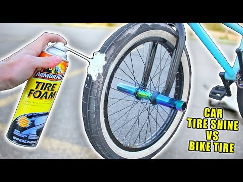 I Sprayed CAR TIRE SHINE on my BMX TIRES, And this Happened!