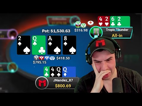 ONE OF THE SICKEST BAD BEATS OF MY CAREER?! - PLO $500 CASH GAME