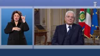 Messaggio di fine anno del Presidente Mattarella - versione LIS