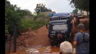 Overlanding West Africa: Aminah Boarding Ferry In Guinea