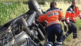 21.06.2019 - VN24 - PKW überschlägt sich auf Landstraße - Feuerwehr rettet Person