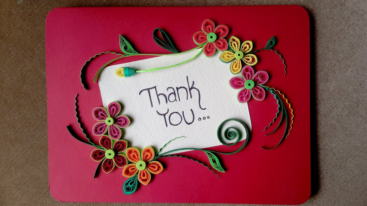 Paper quilling card how to make a beautiful greeting card youtube m4hsunfo