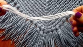 Кисточки (метёлочки) для платков, шалей, шарфов, палантинов. Как я это делаю.  Мастер класс