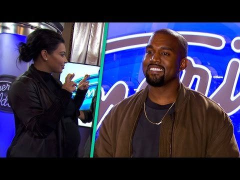 Kim Kardashian Nervously Watches Kanye West Audition For 'American Idol' -- And He Nails It!
