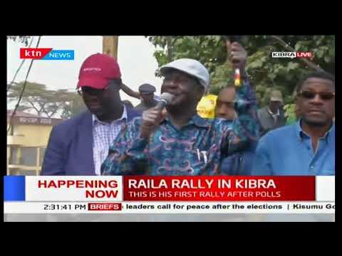 Raila Odinga tells Kibra residents not to go to work on Monday 14th August 2017