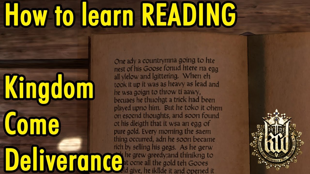 How to learn Reading in Kingdom Come Deliverance - xBeau Gaming