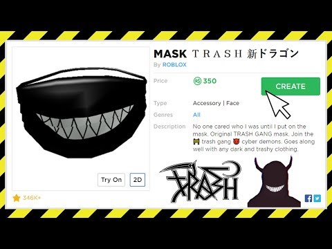 How To Get A Trash Gang Mask On Roblox Youtube