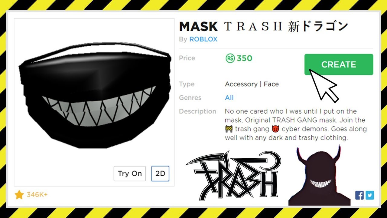 Roblox Thrasher Shirt Id A Free Roblox Code How To Get A Trash Gang Mask On Roblox Youtube
