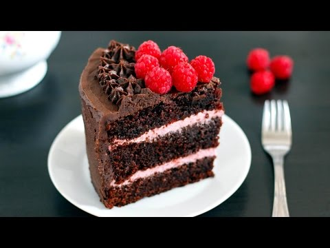 Red Wine Chocolate Raspberry Cake - Filling, Icing, Decorating | HappyFoods