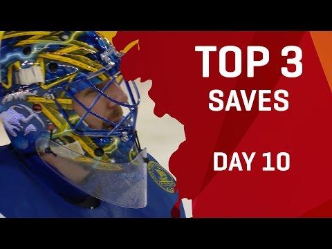 Top 3 Saves - Day 10 - #IIHFWorlds 2017 - 동영상