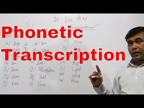 Phonetic Transcription