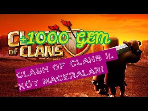 1000 GEM KAZANMAK! Clash OF Clans II. Köy #1