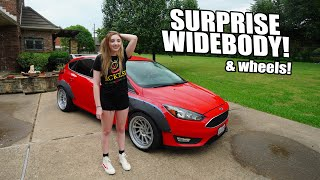 Sister's reaction to SURPRISE WIDEBODY & WHEELS!!