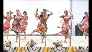 Girls folk Sambalpuri dance @ cutm