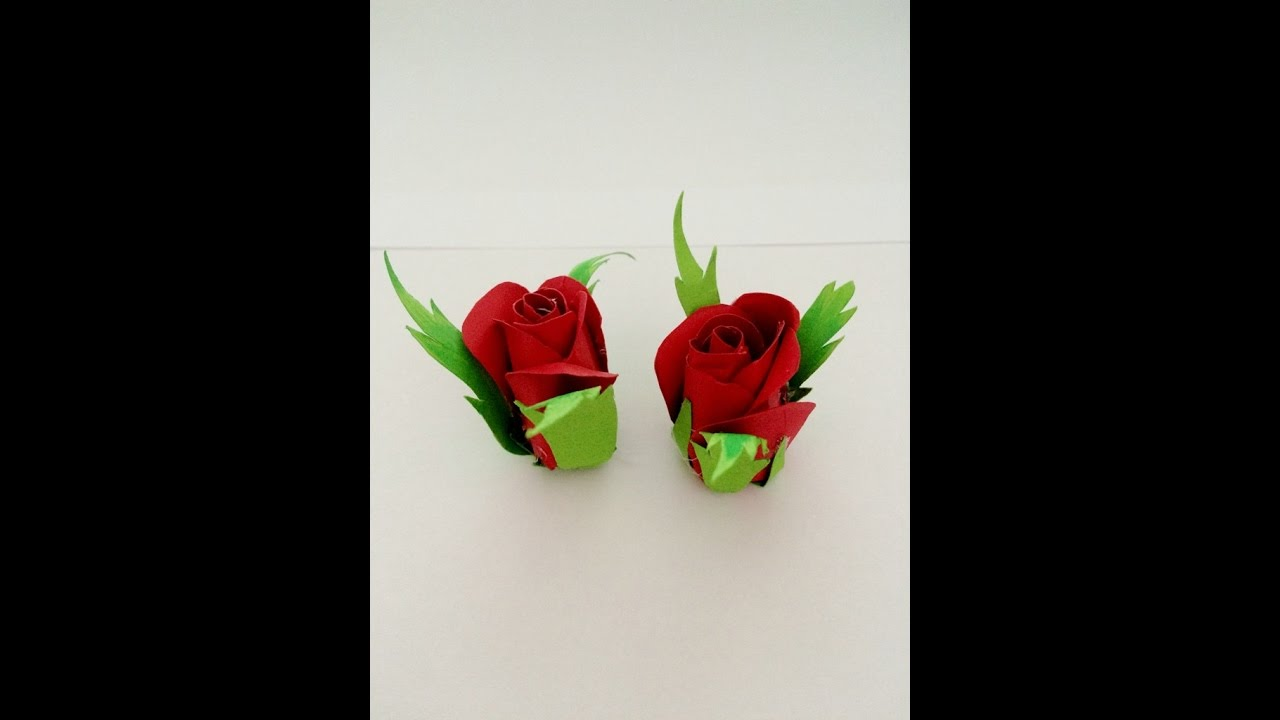 diy super easy way to make rose bud from paper