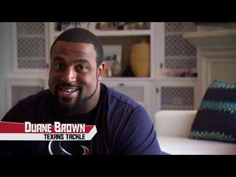 Stephanie Bennett Helps Houston Texan Duane Brown With New Puppy