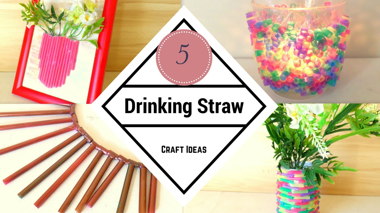 Diy 5 Creative Drinking Straw Craft Ideas Recycling Straw Hacks