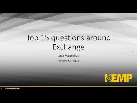 The Top 15 Senior Admin Exchange Questions Answered by Jaap Wesselius