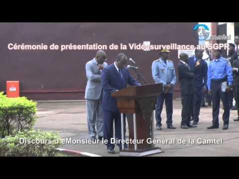 cérémonie de présentation du projet de vidéo surveillance au SGPR