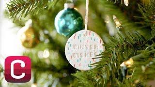 Make Paper Clay Christmas Ornaments with Courtney Cerruti | Creativebug