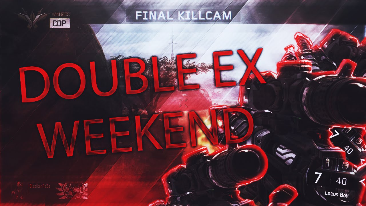 Call of duty double xp weekend dates