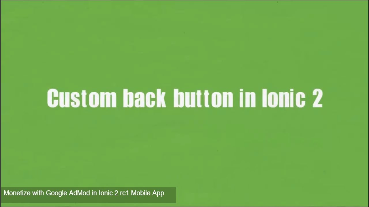 How to custom back button in Ionic 2 [Rc1]