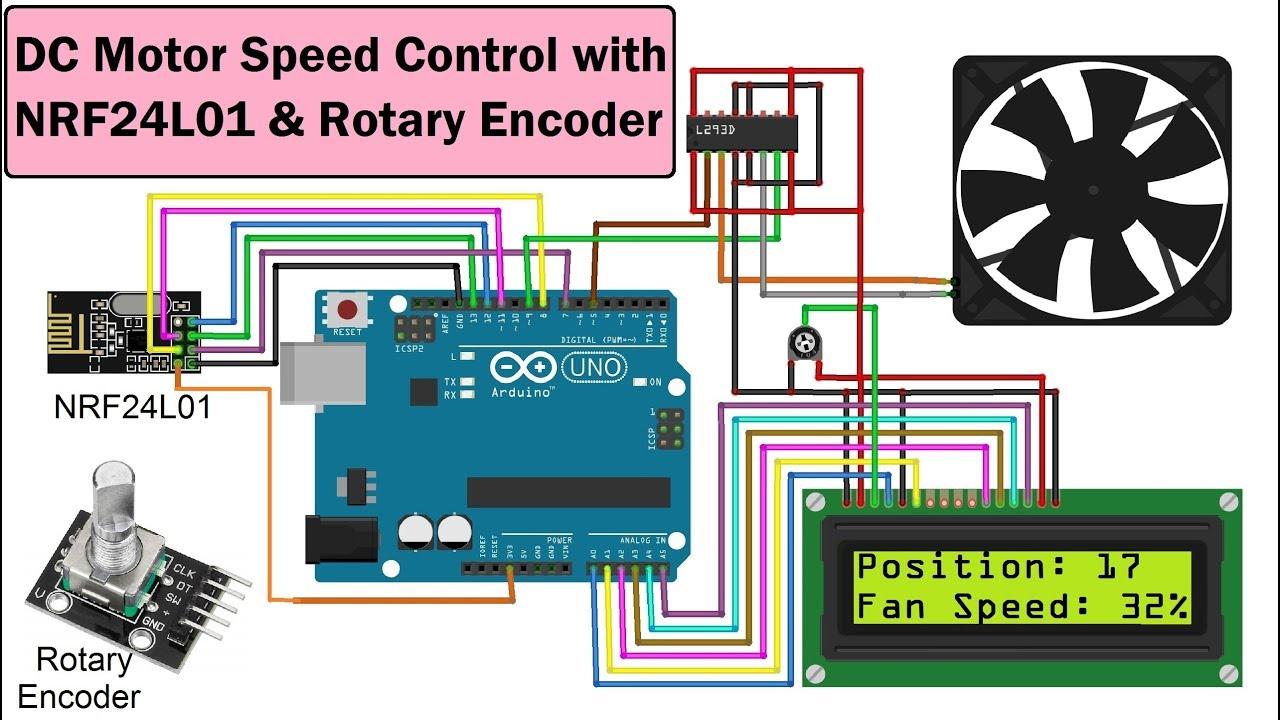[SCHEMATICS_43NM]  DC Motor Speed Control with NRF24L01, Rotary Encoder & Arduino - YouTube | Dc Motor Encoder Wiring Diagram |  | YouTube
