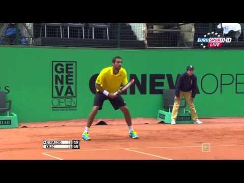 Santiago Giraldo vs Marin Cilic FULL MATCH HD Geneva 2015 PART 1