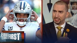 Nick Wright blames Dak Prescott for the Cowboys shutout loss to the Colts | NFL | FIRST THINGS FIRST