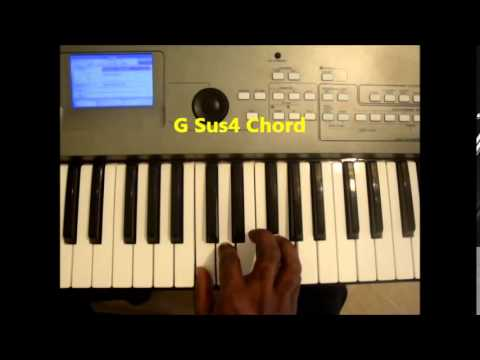 How To Play G Sus4 Chord On Piano and Keyboard - G sus - YouTube