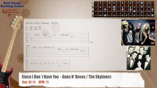 🎻 Since I Don´t Have You - Guns N' Roses / The Skyliners Bass Backing Track With Chords And Lyrics