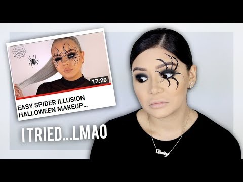 i TRIED recreating a Halloween Tutorial 😭