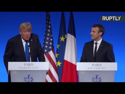 Conférence de presse d'Emmanuel Macron et de Donald Trump (Direct du 13.07)