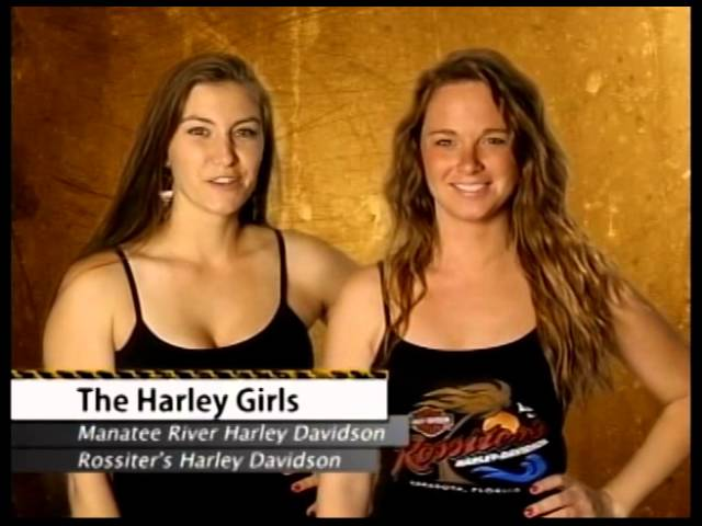 H-D Rossiters and H-D Manatee River Babes on Born To Ride's 900th Episode