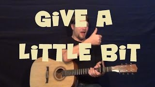 Give a Little Bit (Supertramp) Easy Guitar Lesson How to Play Tutorial with Licks