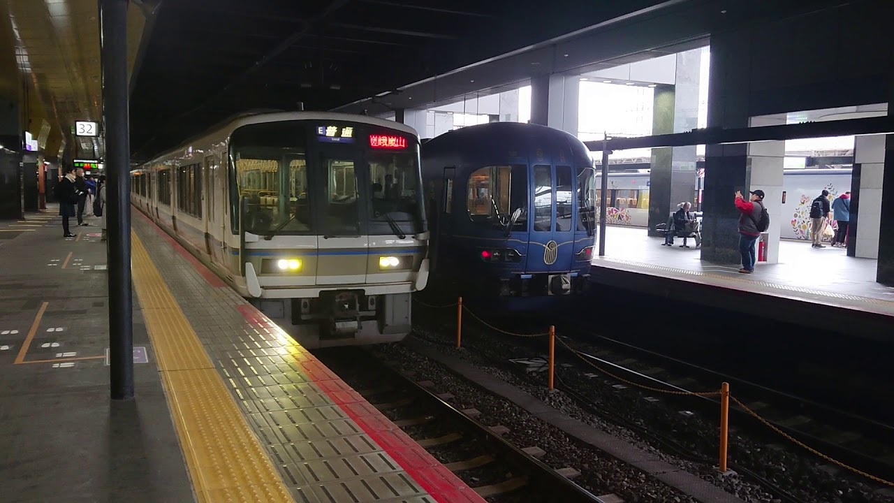 JR嵯峨野線221系K19編成普通嵯峨嵐山行き京都発車 - YouTube